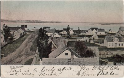 , The Ferry Georgetown, P.E.I. (2374), PEI Postcards
