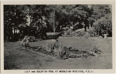, Lily and Goldfish Pool and Woodleigh Replicas, P.E.I. (2371), PEI Postcards