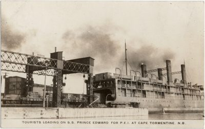 , Tourists Loading on S.S. Prince Edward for P.E.I. at Cape Tormentine, N.B. (2368), PEI Postcards