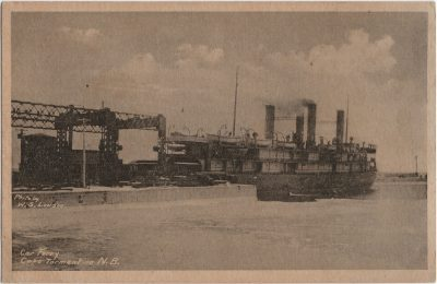 , Car Ferry Cape Tormentine, N.B. Photo by W.S. Louson (2377), PEI Postcards