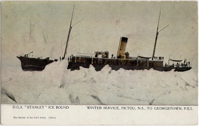 """, D.G.S. """"Stanley"""" Ice Bound Winter Service, Pictou, N.S. to Georgetown, P.E.I. (2366), PEI Postcards"""