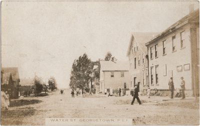 , Water St. Georgetown, P.E.I. (1365), PEI Postcards