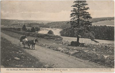 , On the Road, North Shore to Hunter River, Prince Edward Island. (2382), PEI Postcards