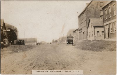 , Main St. Georgetown, P.E.I. (2387), PEI Postcards