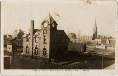 , Some of our Main Buildings, Tignish, P.E.I. Canada (2388), PEI Postcards