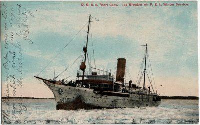 ", D.G.S.S. ""Earl Gray."" Ice Breaker on P.E.I. Winter Service. (2392), PEI Postcards"
