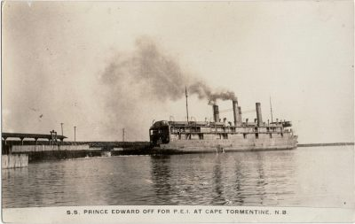 , S.S. Prince Edward off for P.E.I. at Cape Tormentine, N.B. (2399), PEI Postcards