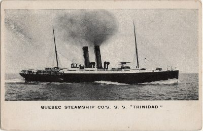, Quebec Steamship Co's. S.S. Trinidad (2397), PEI Postcards