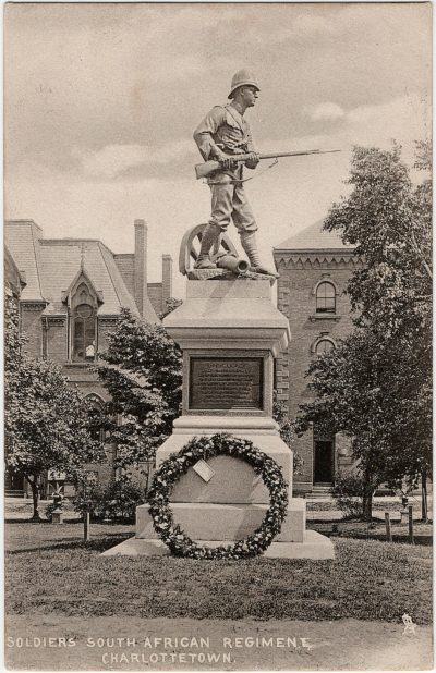 , Soldiers South African Regiment, Charlottetown. (2401), PEI Postcards