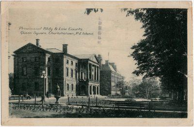 , Provincial Bldg & Law Courts, Queen Square, Charlottetown, P.E. Island. (2407), PEI Postcards