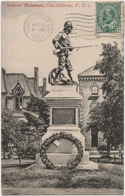 , Soldiers' Monument, Charlottetow,, P.E.I. (2411), PEI Postcards