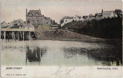 , Main Street Montague, P.E.I. (2410), PEI Postcards