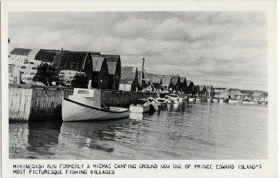 , Miminegash Run Formerly a Micmac Camping Ground now one of Prince Edward Island's most     Picturesque Fishing Villages (2409), PEI Postcards