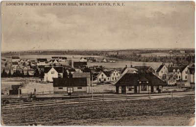 , Looking North from Dunns Hill, Murray River, P.E.I. (2413), PEI Postcards