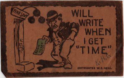 ", Will write when I get ""Time"" {leather postcard} (2418), PEI Postcards"