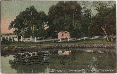 , Entrance to Government House, Charlottetown, P.E.I. (2416), PEI Postcards