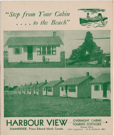 , Harbour View Overnight Cabins / Tourists Cottages Summerside, Prince Edward Island, Canada. (2383), PEI Postcards