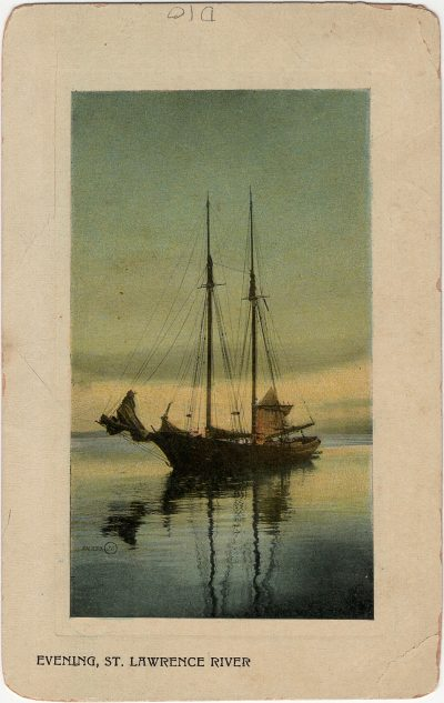 , Evening, St. Lawrence River (2427), PEI Postcards