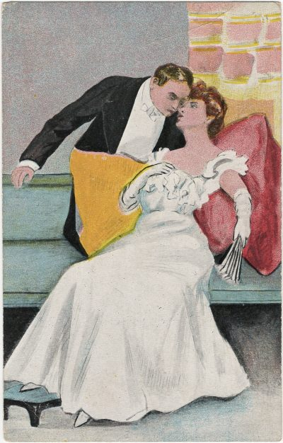, Man standing, woman reclining. (2426), PEI Postcards