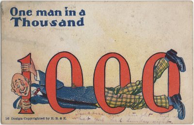 , One man in a thousand. (2423), PEI Postcards