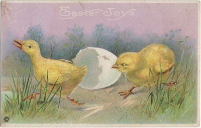 , Easter Joys (2424), PEI Postcards