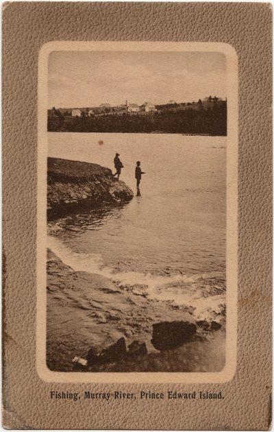 , Fishing, Murray River, Prince Edward Island. (2477), PEI Postcards