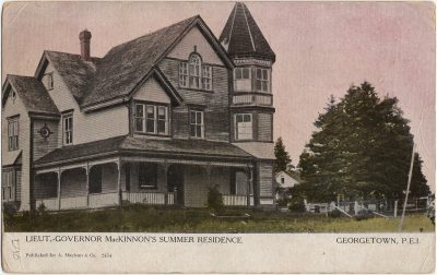 , Lieut.-Governor MacKinnon's Summer Residence Georgetown, P.E.I. (2485), PEI Postcards
