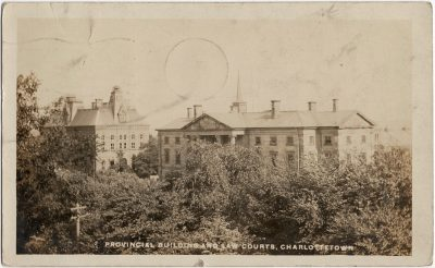 , Provincial Buildings and Law Courts, Charlottetown. (2472), PEI Postcards