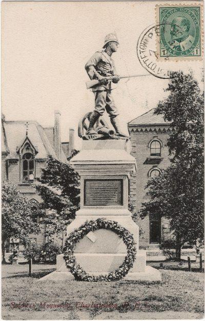 , Soldier's Monument, Charlottetown, P.E.I. (2475), PEI Postcards