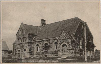 , Court House, Georgetown, P.E. Island (2473), PEI Postcards