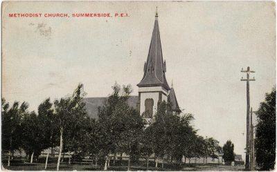 , Methodist Church, Summerside, P.E.I. (2486), PEI Postcards