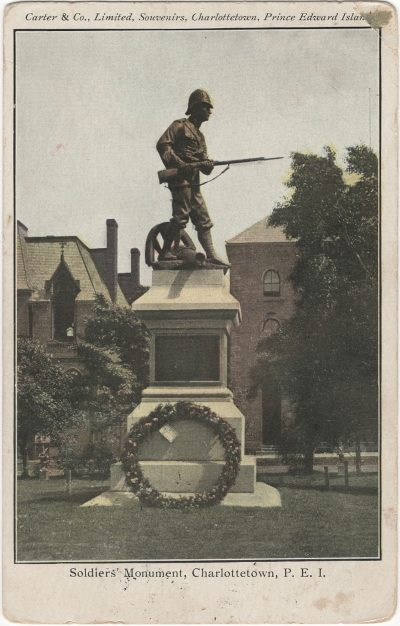 , Soldiers' Monument, Charlottetown, P.E.I. (2467), PEI Postcards