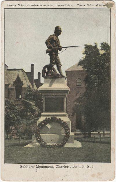 , Soldiers' Monument, Charlottetown, P.E.I. (2467), PEI Postcards
