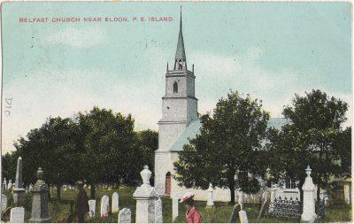 , Belfast Church near Eldon, P.E. Island (2466), PEI Postcards