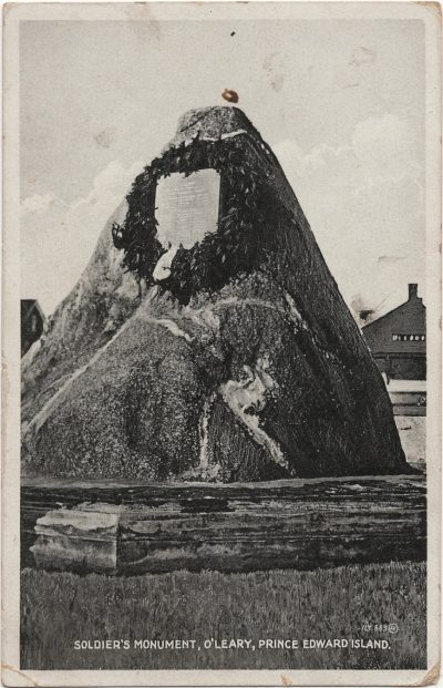 , Soldier's Monument, O'Leary, Prince Edward Island (2464), PEI Postcards