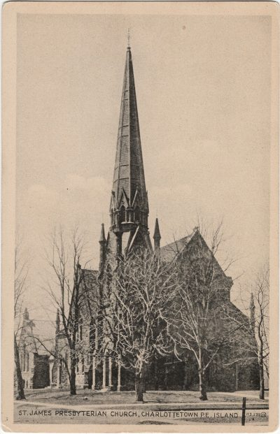 , St. James Presbyterian Church, Charlottetown, P.E. Island. (2460), PEI Postcards