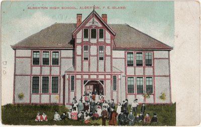 , Alberton High School, Alberton, P.E. Island (2462), PEI Postcards