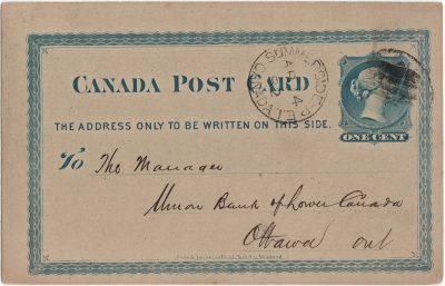, Canada Post Card Union Bank of P.E. Island. (2449), PEI Postcards