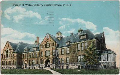 , Prince of Wales College, Charlottetown, P.E.I. (2442), PEI Postcards
