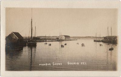 , Harbor Scene, Souris, PEI (2556), PEI Postcards