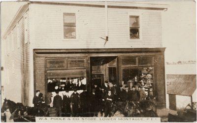 , W.A. Poole & Co. Store, Lower Montague, P.E.I. (2553), PEI Postcards