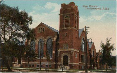 , Zion Church, Charlottetown, P.E.I. (2499), PEI Postcards
