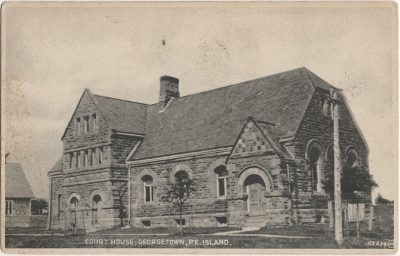 , Court House, Georgetown, P.E. Island (2498), PEI Postcards