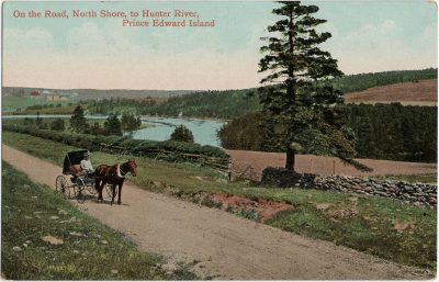 , On the Road, North Shore, to Hunter River, Prince Edward Island (2495), PEI Postcards