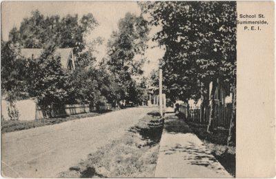 , School St. Summerside, P.E.I. (2546), PEI Postcards