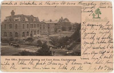 , Post Office, Parliament Building and Court House, Charlottetown (2545), PEI Postcards