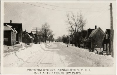 , Victoria Street, Kensington, P.E.I. Just after the snow plow. (2557), PEI Postcards