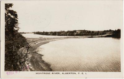 , Montrose River, Alberton, P.E.I. (2538), PEI Postcards