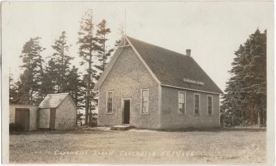 , Cavendish School Cavendish P.E. Island Photo by Read. (2537), PEI Postcards