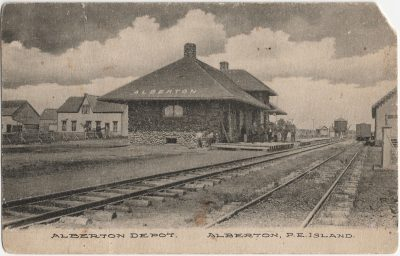, Alberton Depot. Alberton, P.E. Island. (2534), PEI Postcards